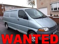 Toyota Hiace van wanted!!!any condition