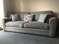 Large Grey 3 seater sofa
