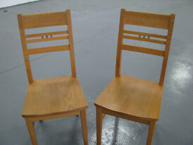 6 solid oak dining chairs (M&S)