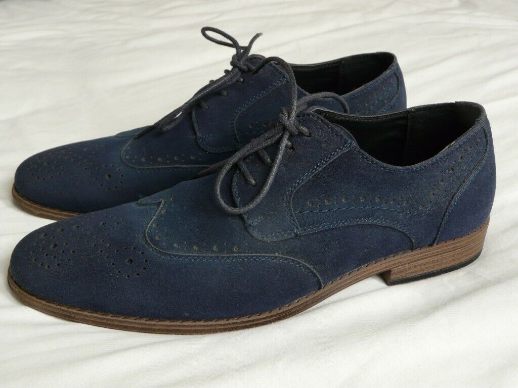 Mens River Island Faux Suede Shoes - Size 9 (43) | in Ferndown, Dorset |  Gumtree