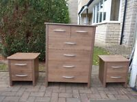 4+2 chest of drawers, walnut effect finish