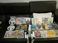 Nintendo Wii family bundle with 20 games and accessories