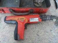 HILTI NAILER NAIL GUN (CARTRIDGE TYPE) DX350 spares or repair