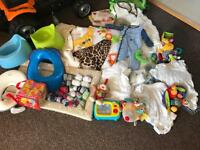 Baby bundle, clothes, changing, sleep suits