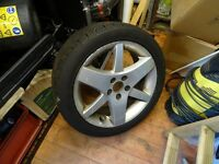 "Saab 17"" Alloy wheel & excellent tyre"