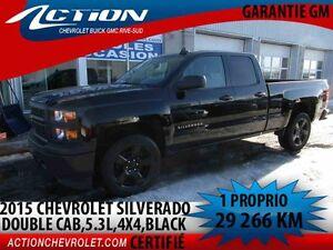 2015 CHEVROLET SILVERADO 1500 4WD DOUBLE CAB BLACK EDITION,5.3L,