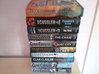 Large Selection of Clive Cussler Hardback Books (pristine condition)