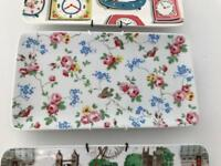 Cath Kidston little birds tray / sandwich plate rare