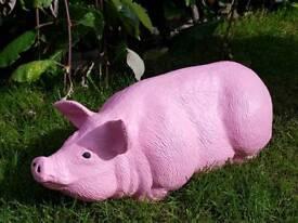 Pig ;cast stone garden ornament