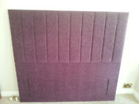 Headboard King size brand new floor standing - Colour Mauve (fabric)