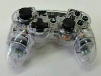 Playstation 3 ps3 controller clear transparent Afterglow
