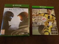 Brand new sealed halo 5 and fifa 17 digital download card full game