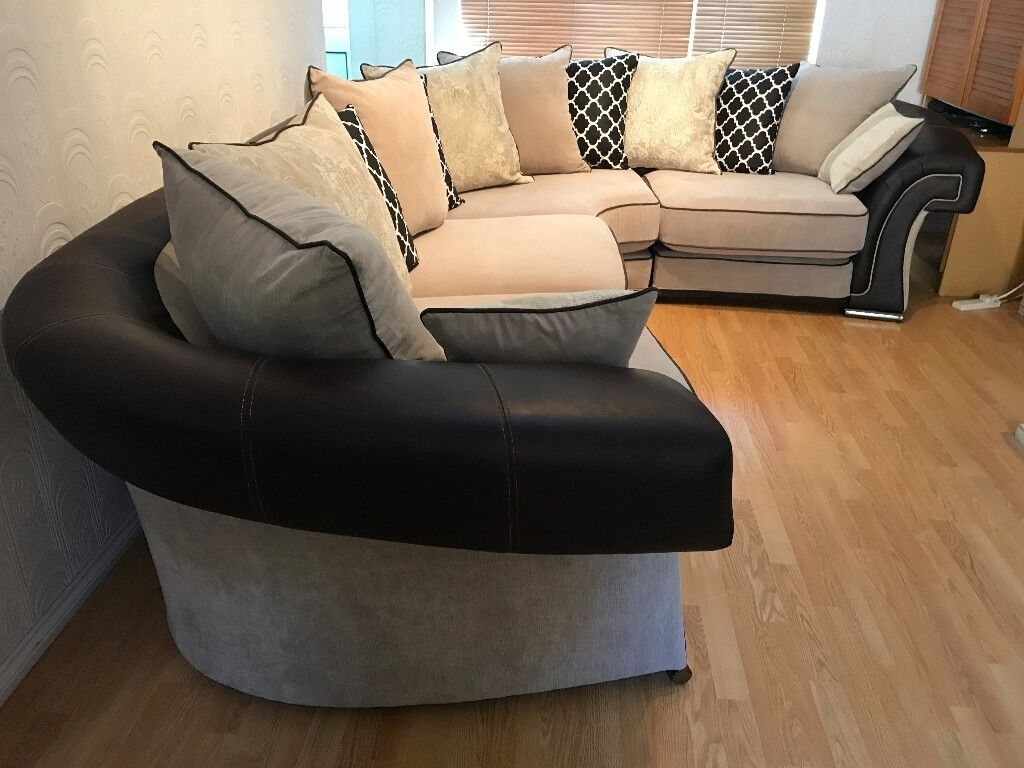 Brown And Beige Left Or Right Corner Sofa Pristine Condition Dfs Delivery