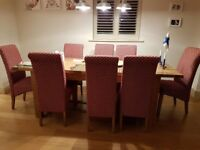 BEAUTIFUL DINING TABLE WITH 10 CHAIRS