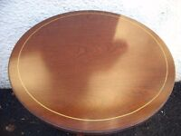 vintage coffee table mahogany circular round single pedestal coffee table