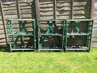3 Shelves for shed, greenhouse or conservatory height 115cm, width 85cm depth 35cm in wood preserved