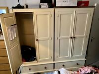 2 Separate Very Large Wardrobes and side draws