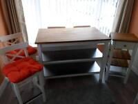 Solid wood kitchen station