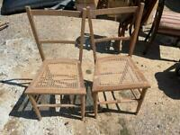 Rafia dining chairs