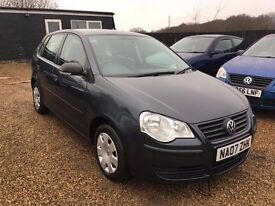 VW POLO 1.2 E 5DR 2007 IDEAL FIRST CAR VERY LOW MILEAGE CHEAP INSURANCE
