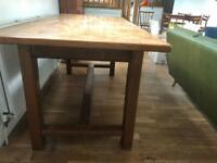 Farmhouse style kitchen table (oak)