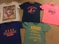 Bundle of 5 x t-shirts age 4-5 years