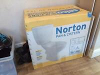 New Toilet-pan and cistern
