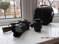 Nikon D3100 dslr, 18-55, with additional 18-200 lens.