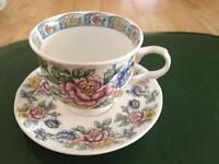 "Vintage Sadler ""Victoria"" tea cup and saucer Bone China PORCELAIN COLLECTIBLE"