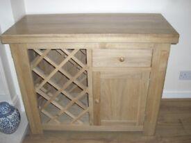 Stunning Solid Light Oak Wine Rack Cabinet