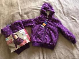 Girls sweat jacket - 98/104 cm (3-4 years) - NEW