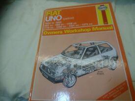 Haynes manual Fiat Uno 1983-92