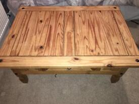76 x 107 x 44cm Large Pine Coffee Table