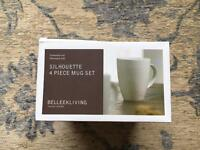 Belleek Living 4 piece mugs