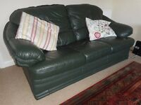3 piece leather suite with reclining chair