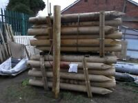 Timber straining post 125mm-150mmx2.4m