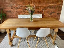6-8 Seater French Vintage Oak Dining Table