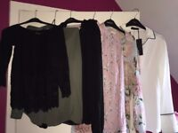 Bundle of 7 shirts/blouses Oasis, Autograph, Lipsy, Warehouse, Zara all SIZE 8