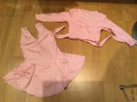 Ballet Leotard and Cardigan in Pink