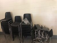 25 chairs with detachable arm wrest
