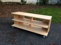 tv stand, wheel stand, cloth shelfs, exhibitor