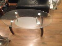 Coffe table (glass) 2 tier. £60. But will take £45