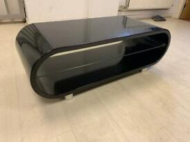 Gloss black retro tv stand