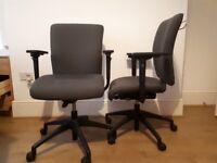 2 Orange Box Office chairs