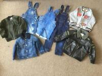 Bundle of boys jackets and dungarees size 2-3 years NEED TO SELL ASAP
