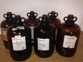 Demijohns 5 litre £3.00 each (home brew etc)