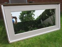 Kemble Rustic solid Oak Painted Wall Mirror. 1200mm by 600mm.