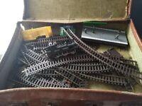 00 gauge train set loco buildings track etc all in case