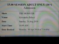 THE MONSTER - Inflatable Obstacle Course - LONDON ALEXANDRA PALACE 26th August 2018- 2 Adult Tickets