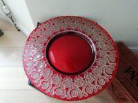 Glass Decorative Plate